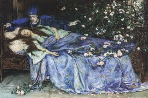 """Sleeping Beauty"", by Henry Meynell Rheam"